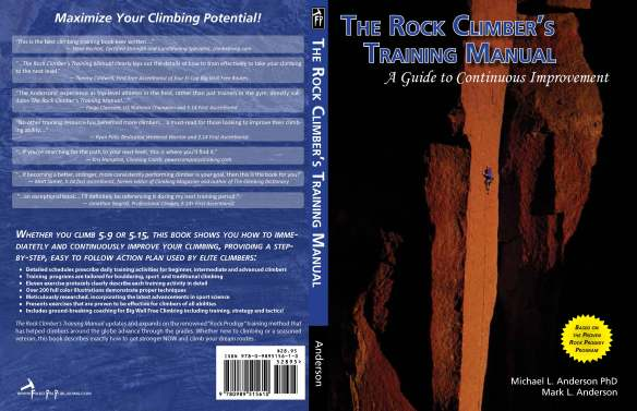 The cover spread.  Mike took the cover photo of me on To Bolt Or Not To Be at Smith Rock.  The back cover includes some awesome feedback from our early reviewers.